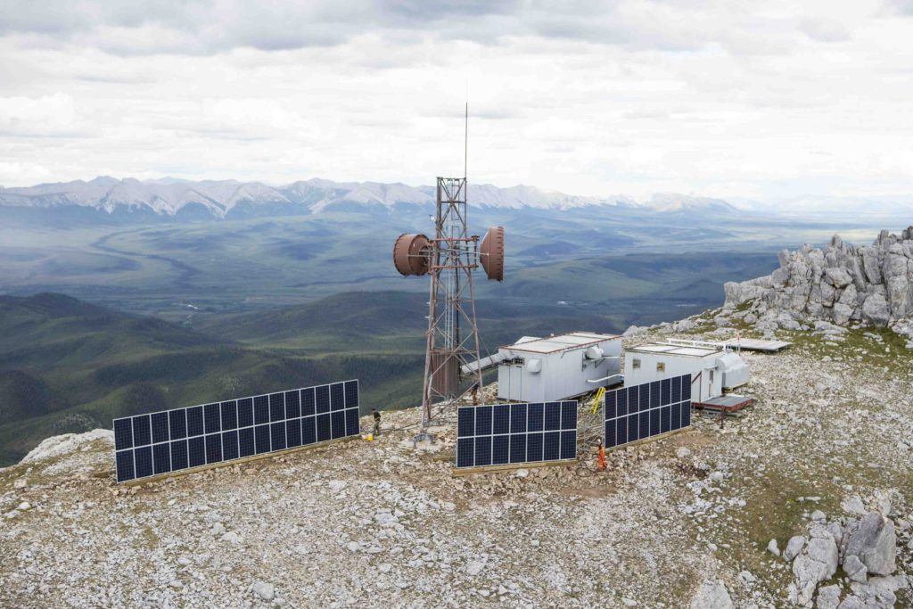 Northwestel Engineer Creek Solar Site, North Yukon